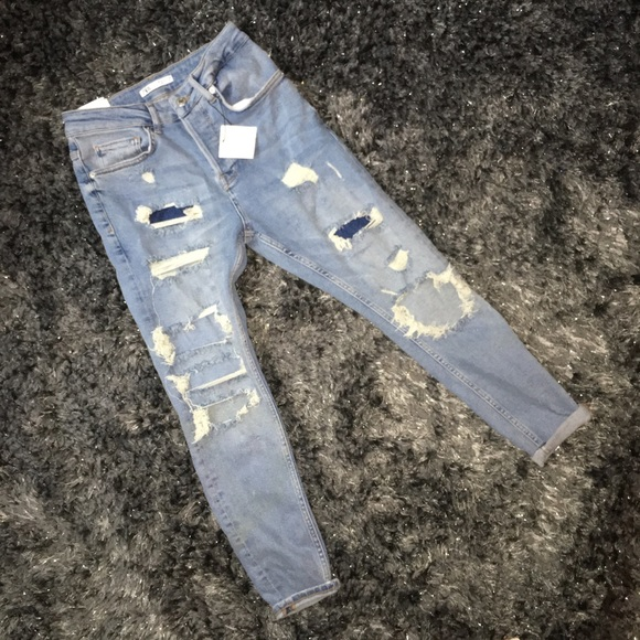 Zara Denim - ❌SOLD❌Zara denim distressed jeans